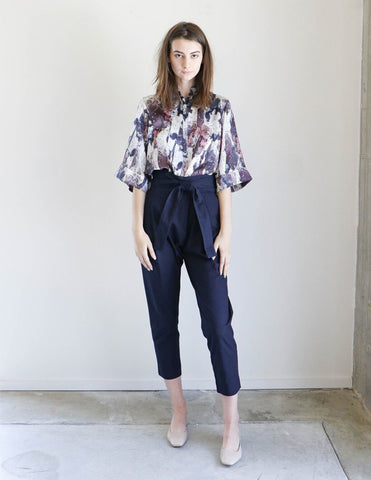 Apiece Apart Isla Wrap Pant in Dark Rinse