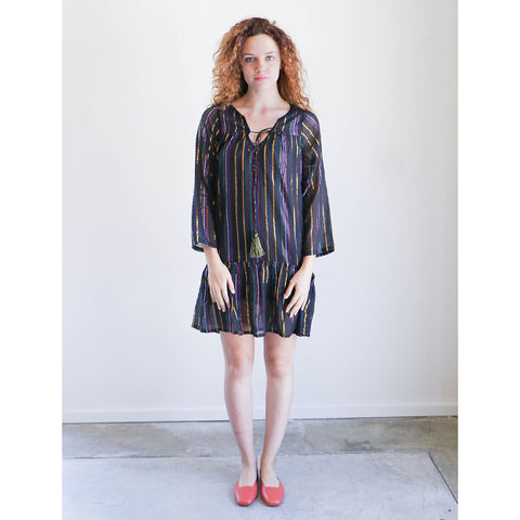 Apiece Apart Mesa Dress in Black Fez Stripe