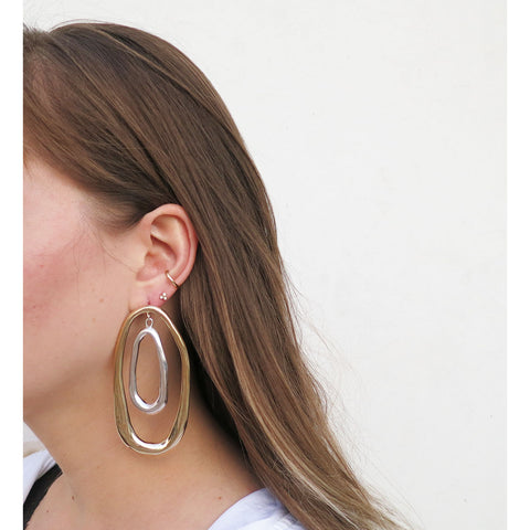 Ariana Boussard-Reifel Pintler Earrings in Silver + Brass