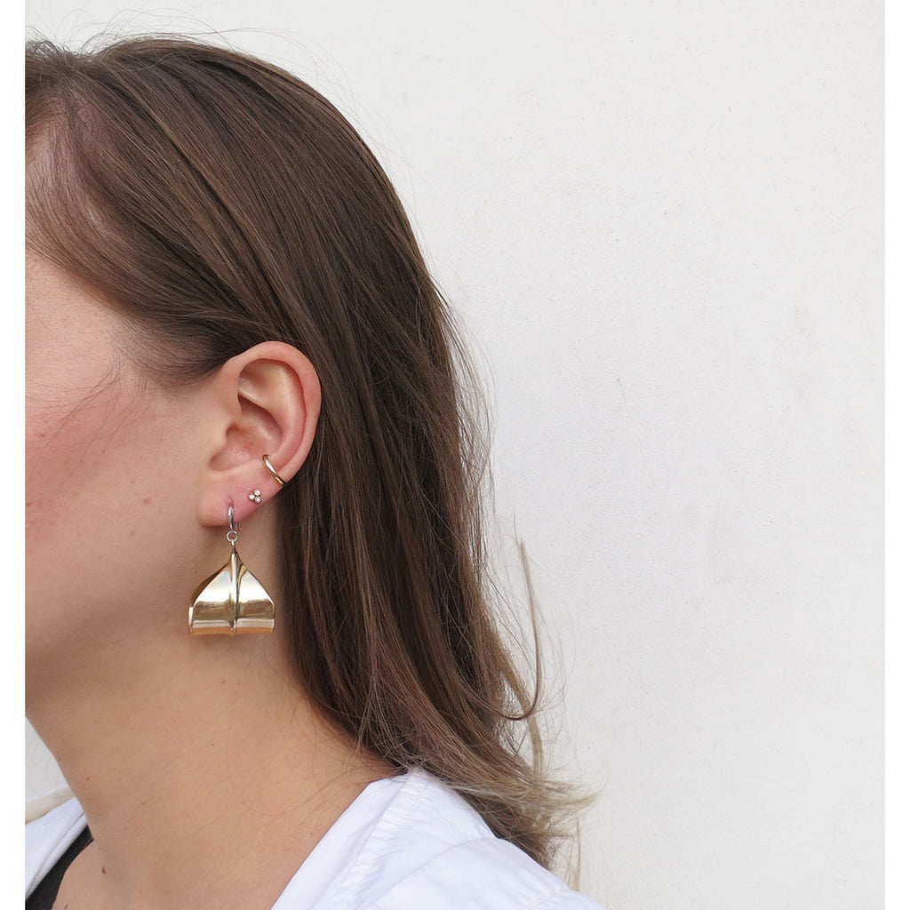 Ariana Boussard-Reifel Small Meridian Earrings in Brass