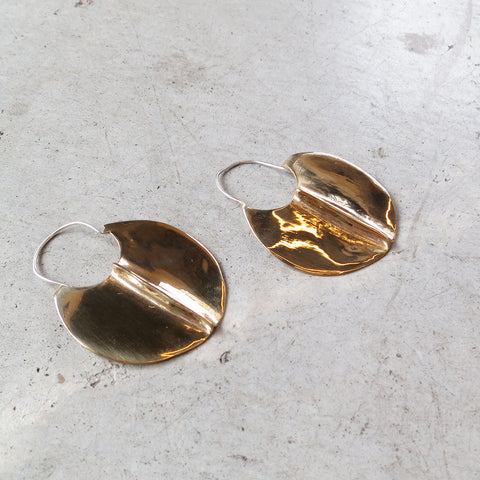 Ariana Boussard-Reifel Glacier Earrings in Brass