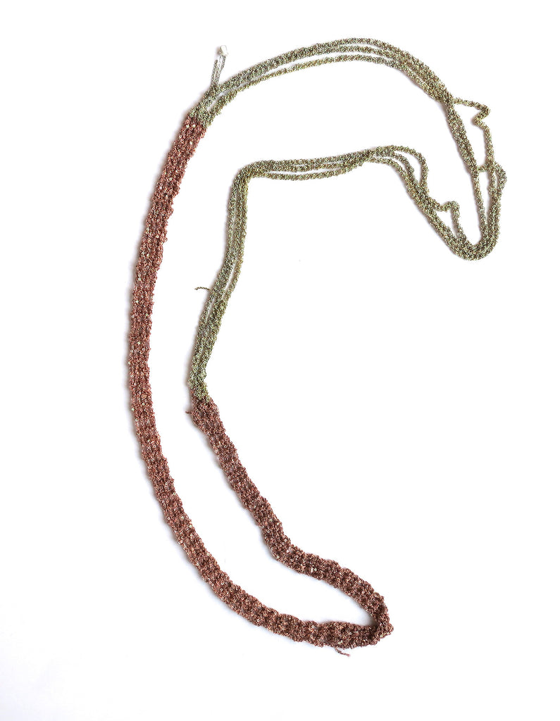 Arielle De Pinto Slim Necklace in Rose Gold + Haze