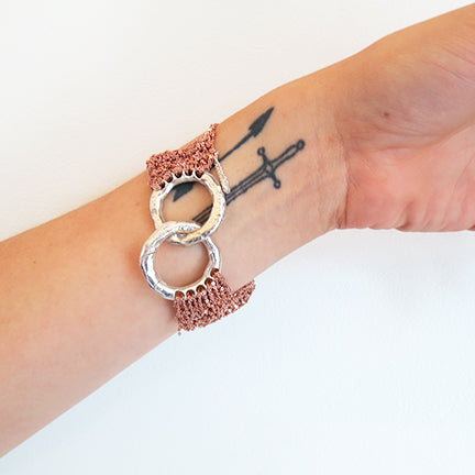 Arielle De Pinto Page Bracelet Small in Rose Gold
