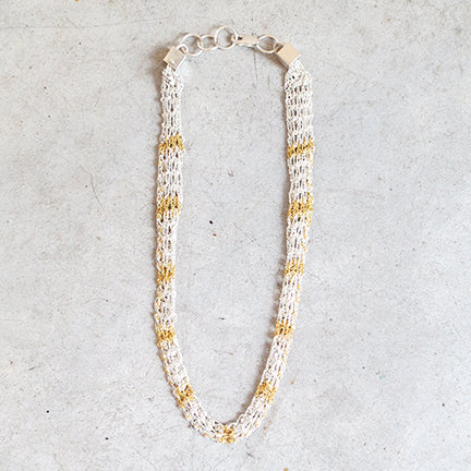 Arielle De Pinto Rope Necklace in Gold + Silver