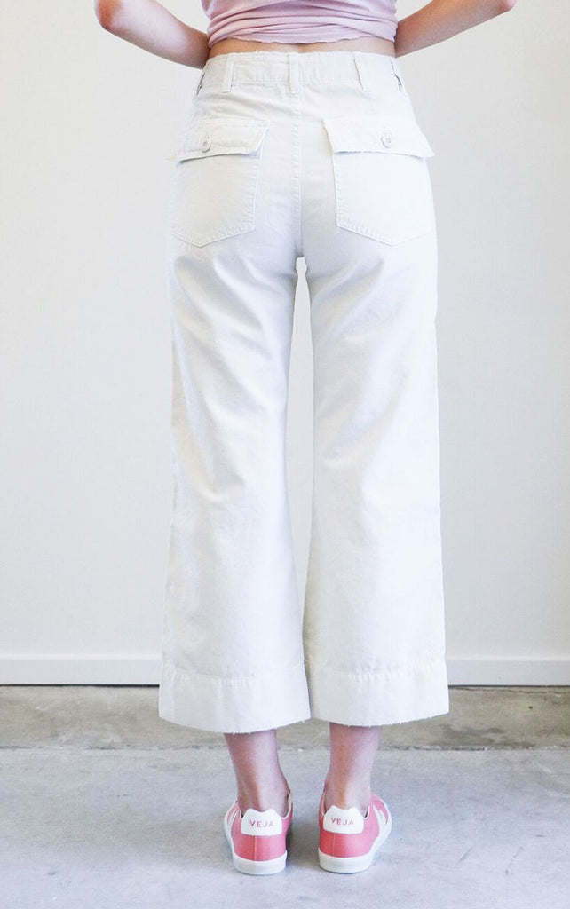 Amo Army Pants in Vintage White