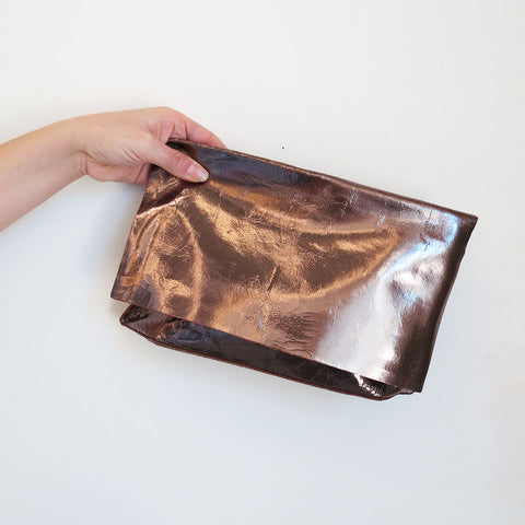 Tracey Tanner Carmen Clutch in Blush Foil