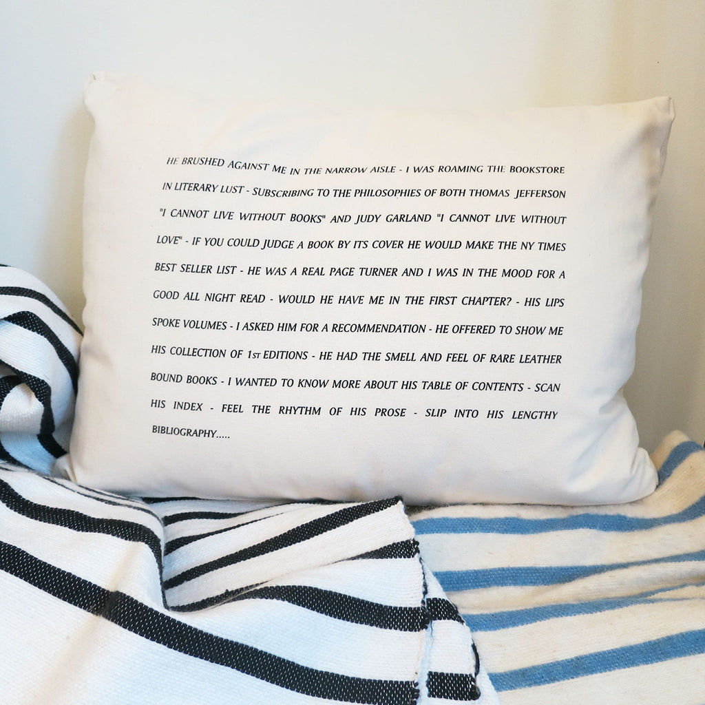 Pulpoetry Bookstore Pillow by Barbara Hill