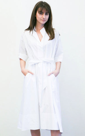 Creatures of Comfort Byron Dress in White