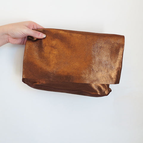 Tracey Tanner Carmen Clutch in Copper Sparkle