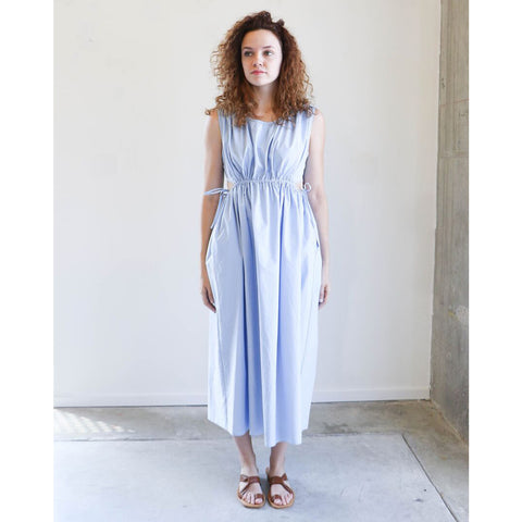 Caron Callahan Goa Dress in Blue Oxford