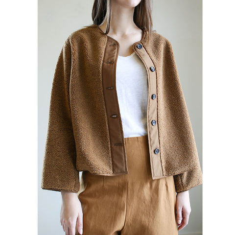 Caron Callahan Tommy Jacket Caramel Fleece