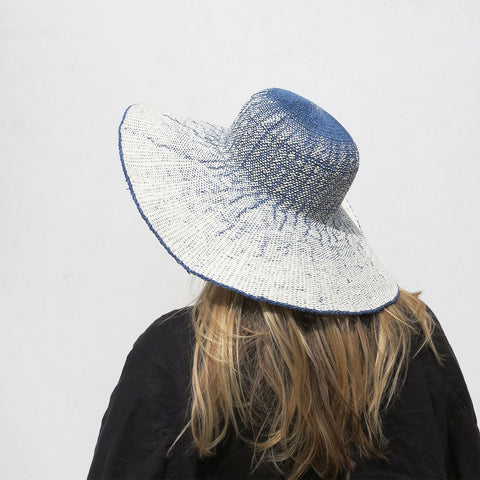 Clyde Koh Hat in Blue + White Ombre