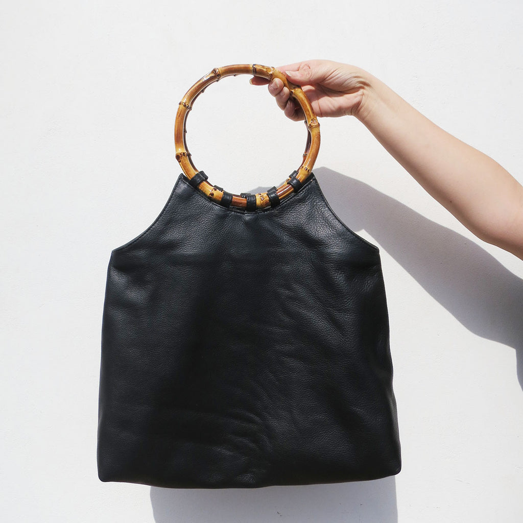 Clyde Paradis Bag in Black Leather
