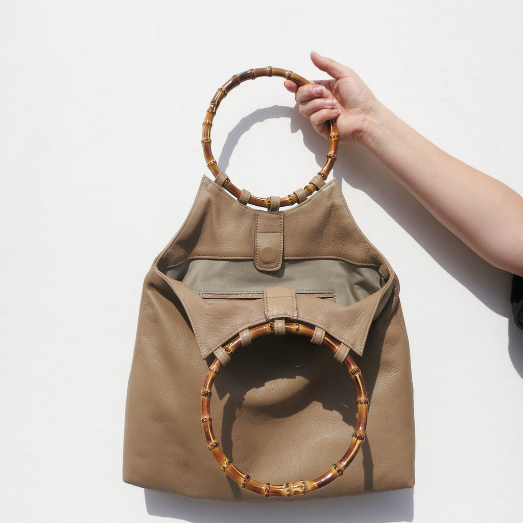 Clyde Paradis Bag in Taupe Leather