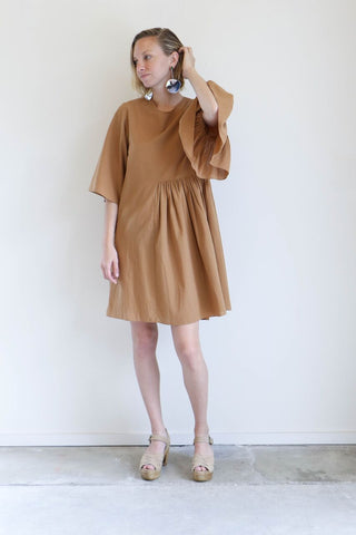 Correll Correll Cotton Coco Dress in Bronze