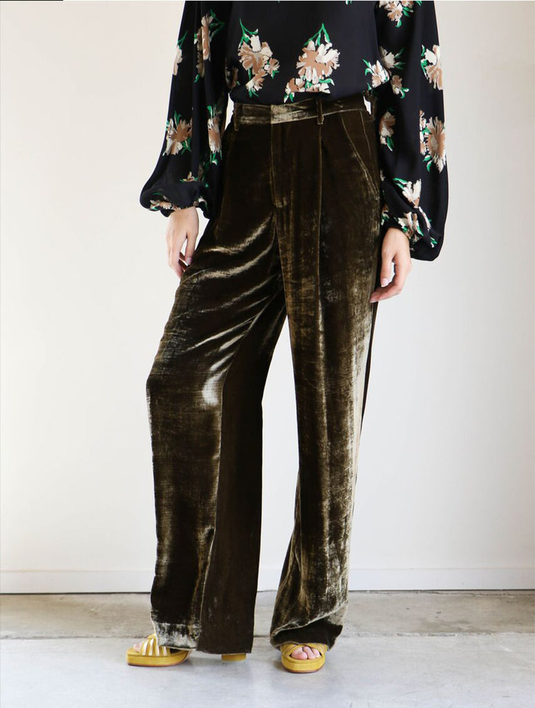 Creatures of Comfort Harriette Pants in Peet Velvet