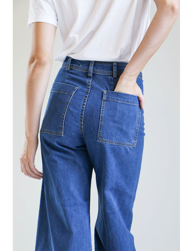 Creatures of Comfort Maison Pant in Standard Denim