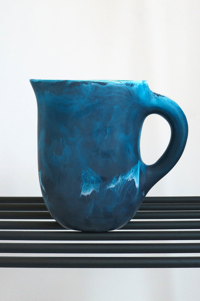 Dinosaur Designs Large Rock Jug in Moody Blue Swirl