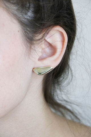 Faris Cap Earrings in Bronze