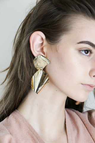 Faris Drape Earrings in Bronze