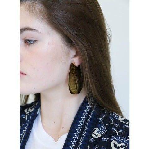 Faris Lagoon Earrings in Bronze