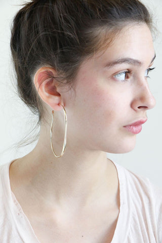 Faris Large Vero Hoops in Bronze