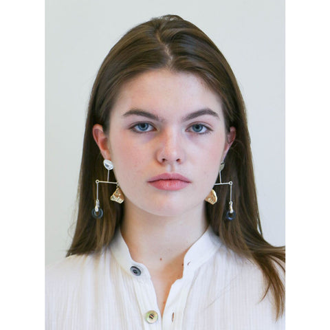 Faris Portra Mobile Earrings in Bronze