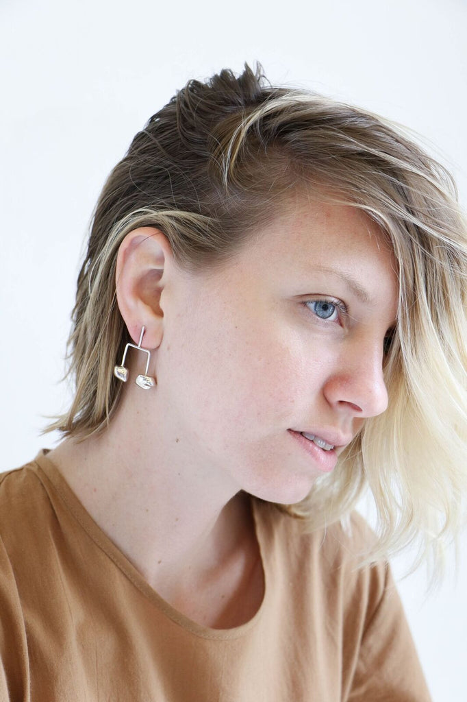 Faris Tula Earrings in Silver