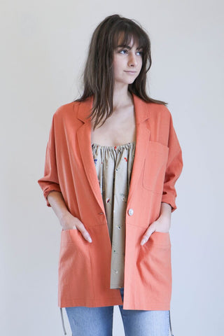 House Dress Dobkin Blazer in Persimmon