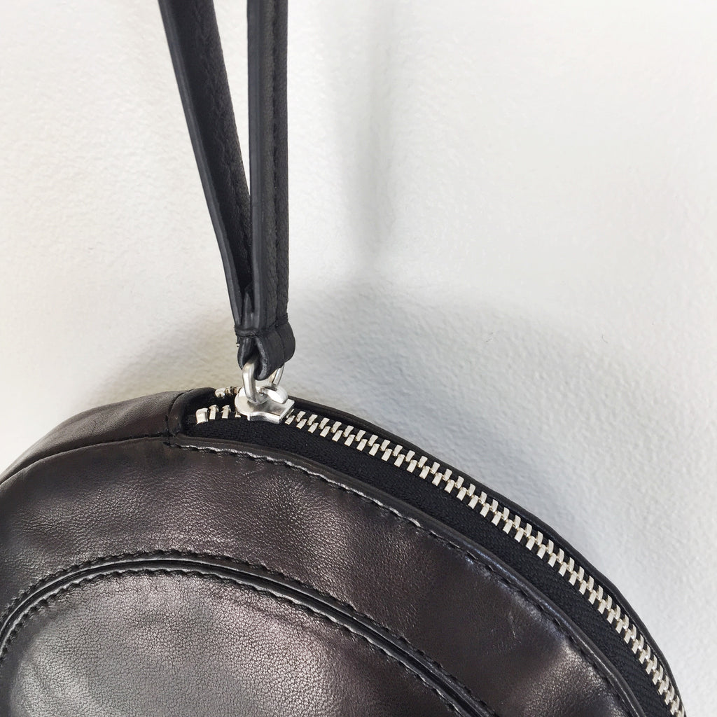 Jerome Dreyfuss Popoche O Bag in Noir Lambskin