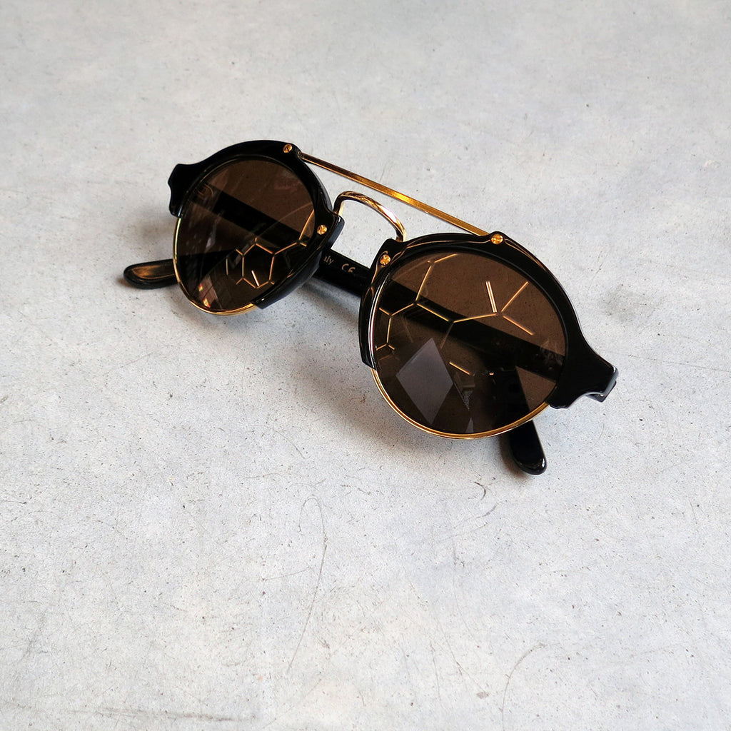 Illesteva Milan Sunglasses in Black with Brown Lens