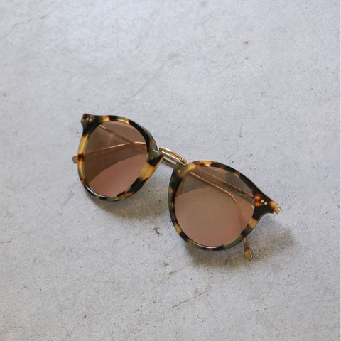 Illesteva Portofino Sunglasses in Tortoise with Rose Mirror Lenses