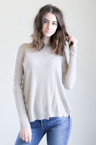 Inhabit Pointelle Sweater in Tusk