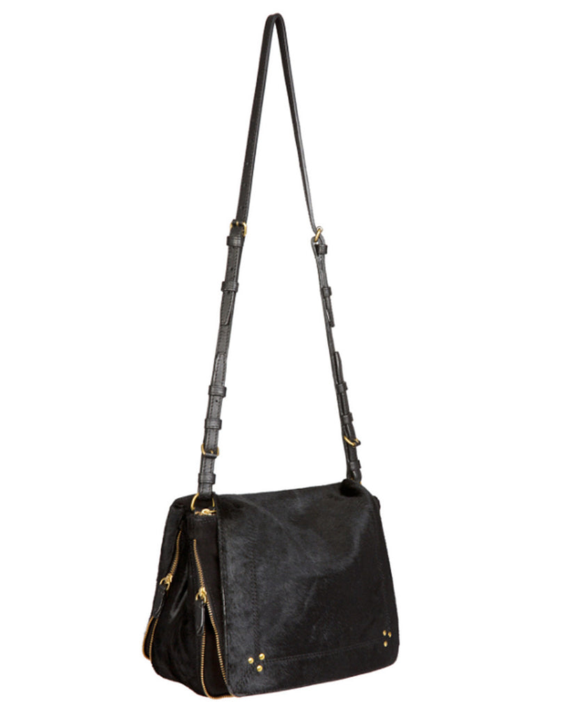 Jerome Dreyfuss Igor Crossbody Bag in Noir Pony Calfskin