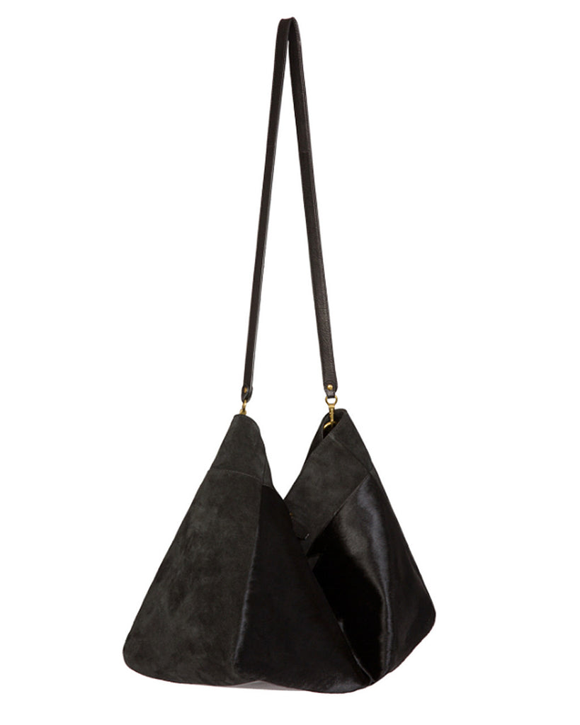 Jerome Dreyfuss Maurice Carryall in Noir Pony Calfskin