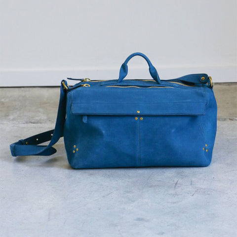 Jerome Dreyfuss Raoul Bag in Petrole Goatskin
