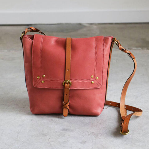 Jerome Dreyfuss Tony Bag in Lissa Rosa Lambskin