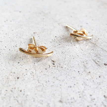 Kathleen Whitaker Stitch 14k Gold Earrings
