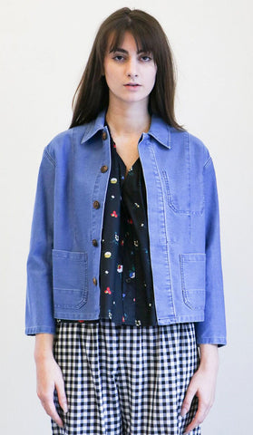 Caron Callahan Krasner Jacket in Faded Indigo