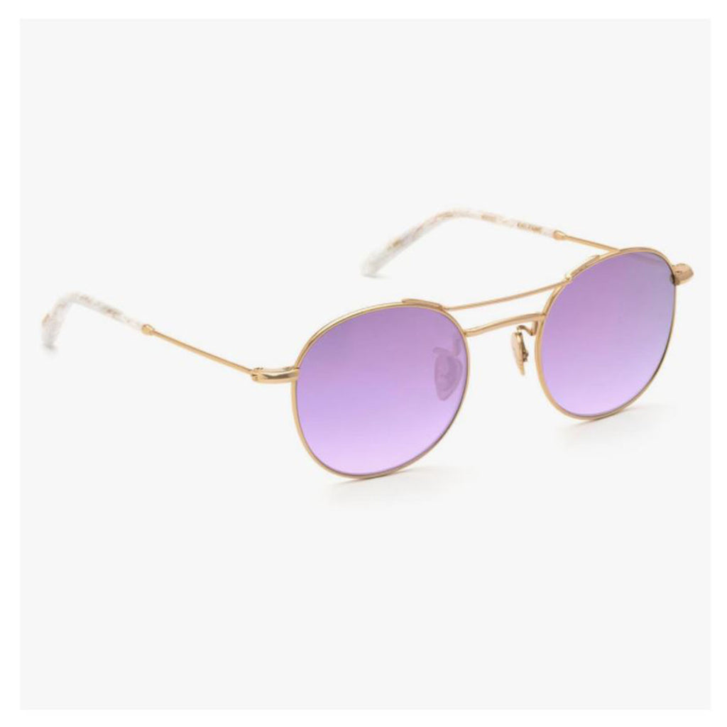 Krewe du Optic Orleans Sunglasses in 24k Titanium + White Linen