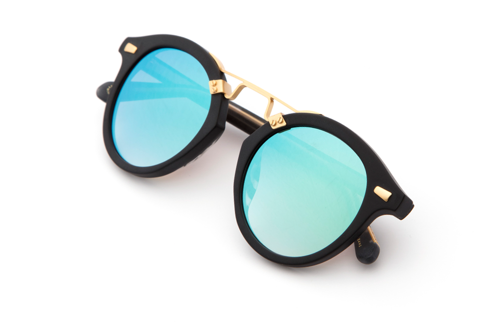 Krewe du Optic St. Louis II Sunglasses in Matte Black