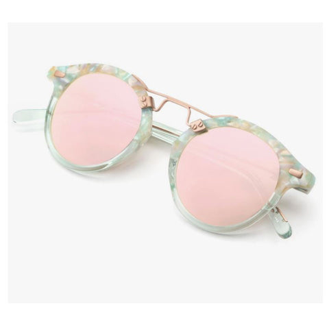 Krewe du Optic St. Louis Sunglasses in Seaglass to Marine Rose Gold