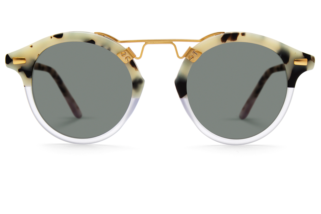 Krewe du Optic St. Louis Sunglasses in Matte Au Lait to Clear