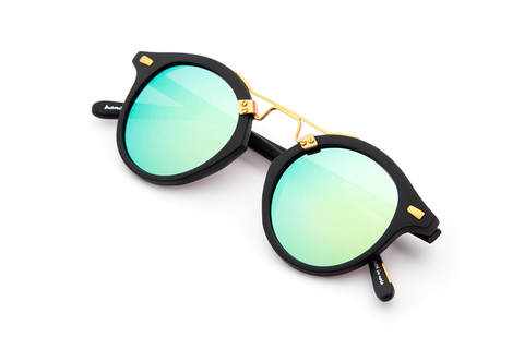 Krewe du Optic St. Louis Sunglasses in Matte Black