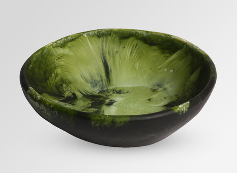 Dinosaur Designs Large Salad Bowl in Malachite