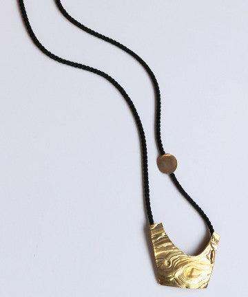 Leigh Miller Crescent Necklace in Brass + Silver