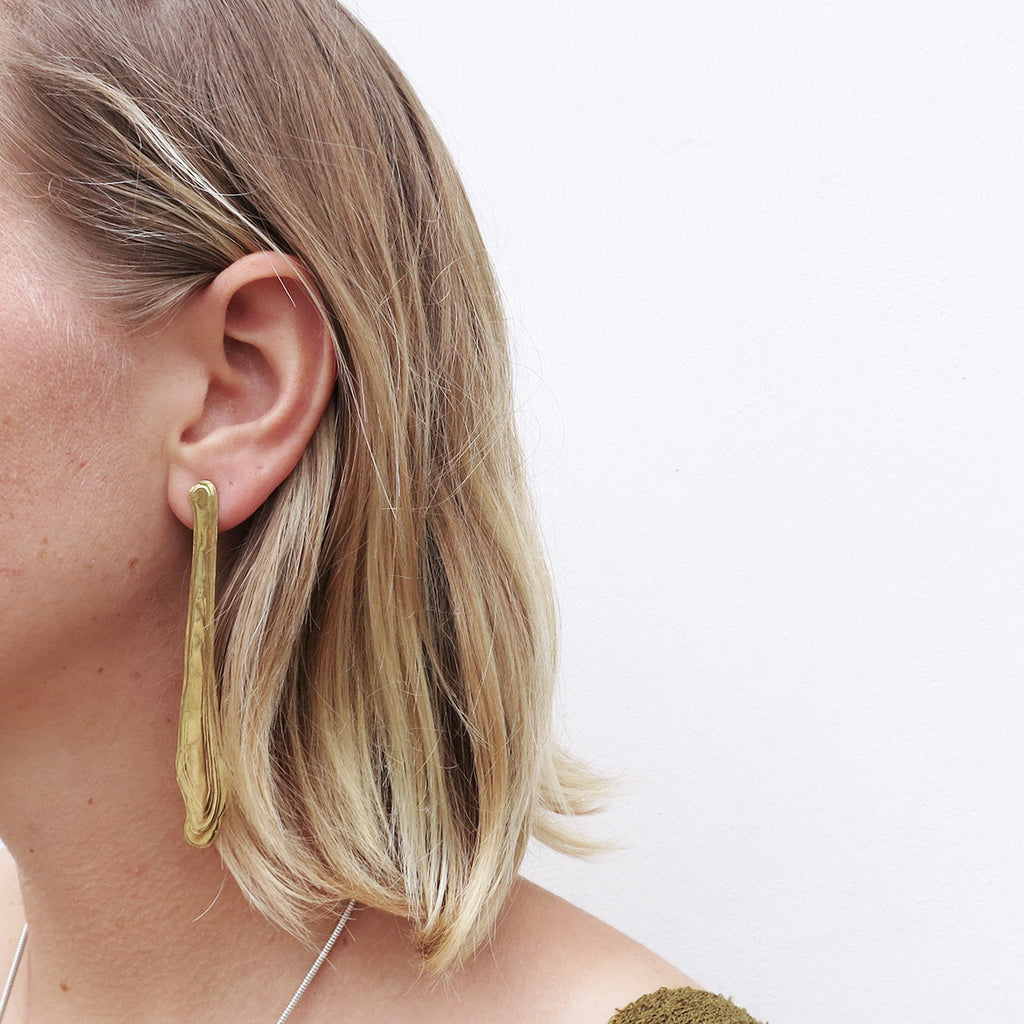 Leigh Miller Ebb and Flow Earrings in Brass