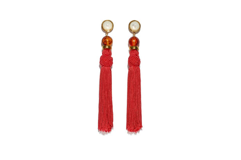 Lizzie Fortunato Jambo Tassel Earrings