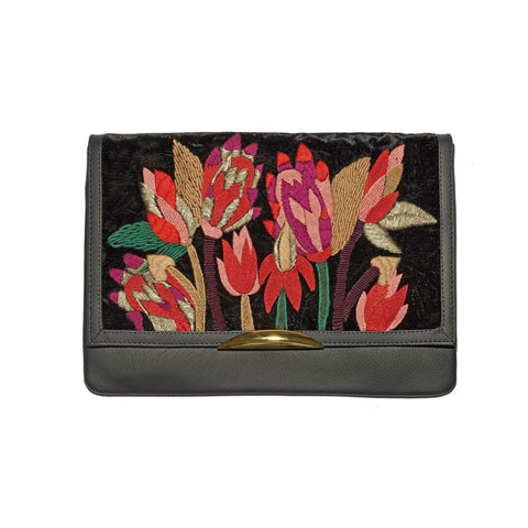 Lizzie Fortunato Port of Call Clutch in Spiky Floral