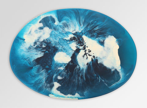 Dinosaur Designs Large Temple Platter in Moody Blues